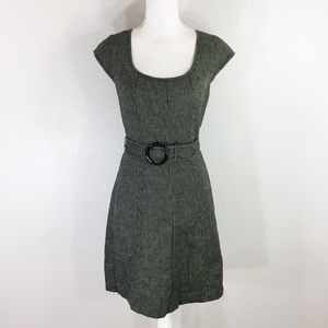 Ann Taylor Gray belted dress